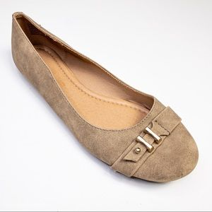 American Eagle Faux Suede Taupe Flats